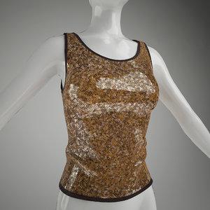 3dsmax woman s vest mannequin