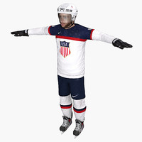 patrick kane usa sochi 3d model