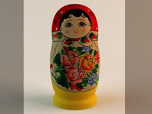 russian babushka doll 3d max
