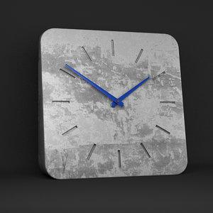 3d clock hands realistic model
