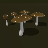 3d fungus cartoon model