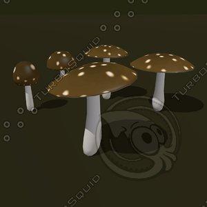 3d fungus cartoon model