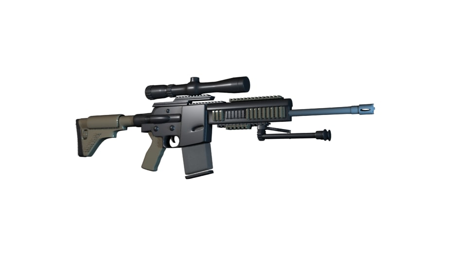 rifle mr762a1 lrp 3d max