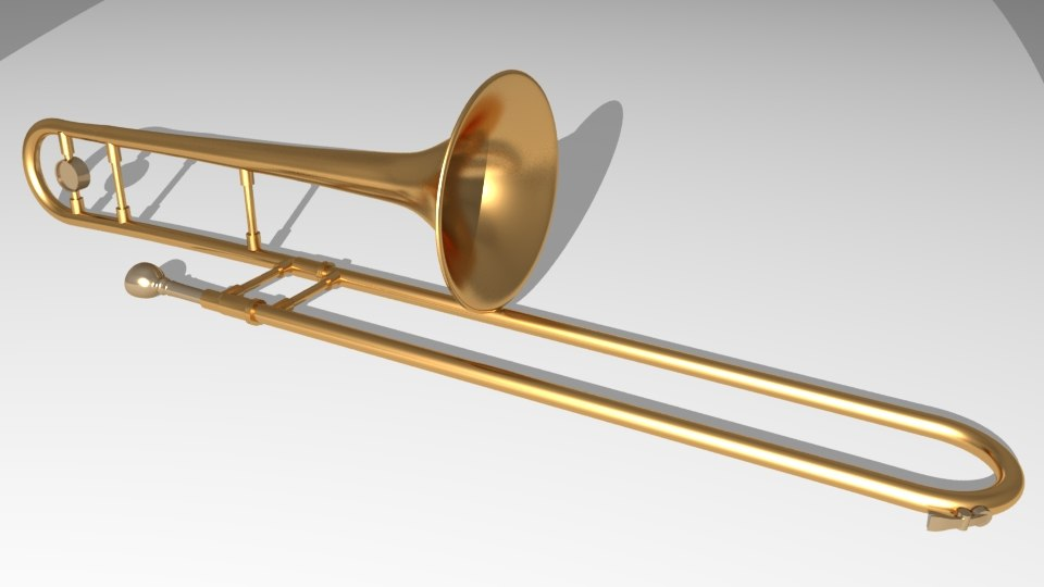 3d model trombone