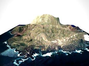 3ds volcanic island
