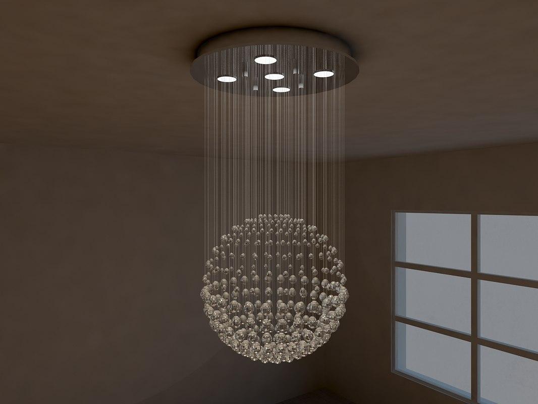 crystal pendant lamp 3d model