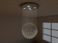 crystal pendant lamp 3d model