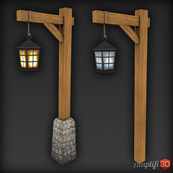 Low Poly Lamp Post