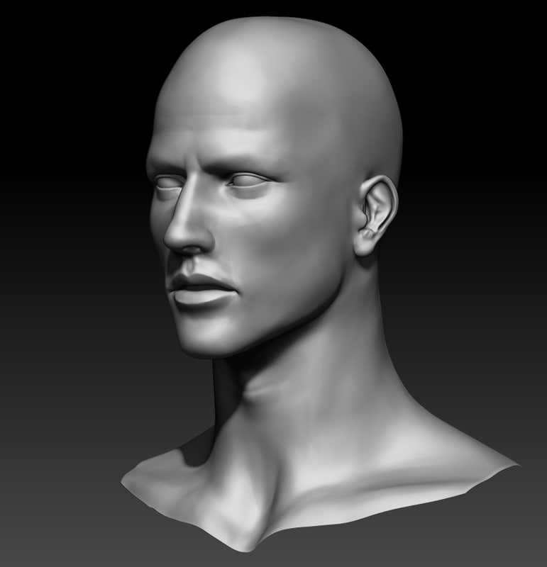 3d male sculpt