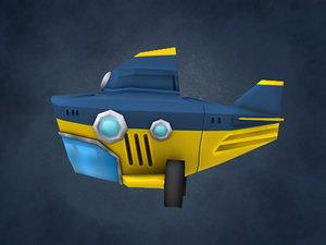 3ds max cartoon submarine