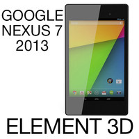 Google Nexus 7 2013 for Element 3D
