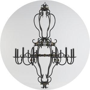 currey gotham chandelier 3d max