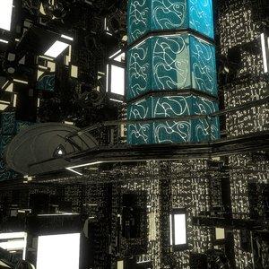 space ship bridge dxf