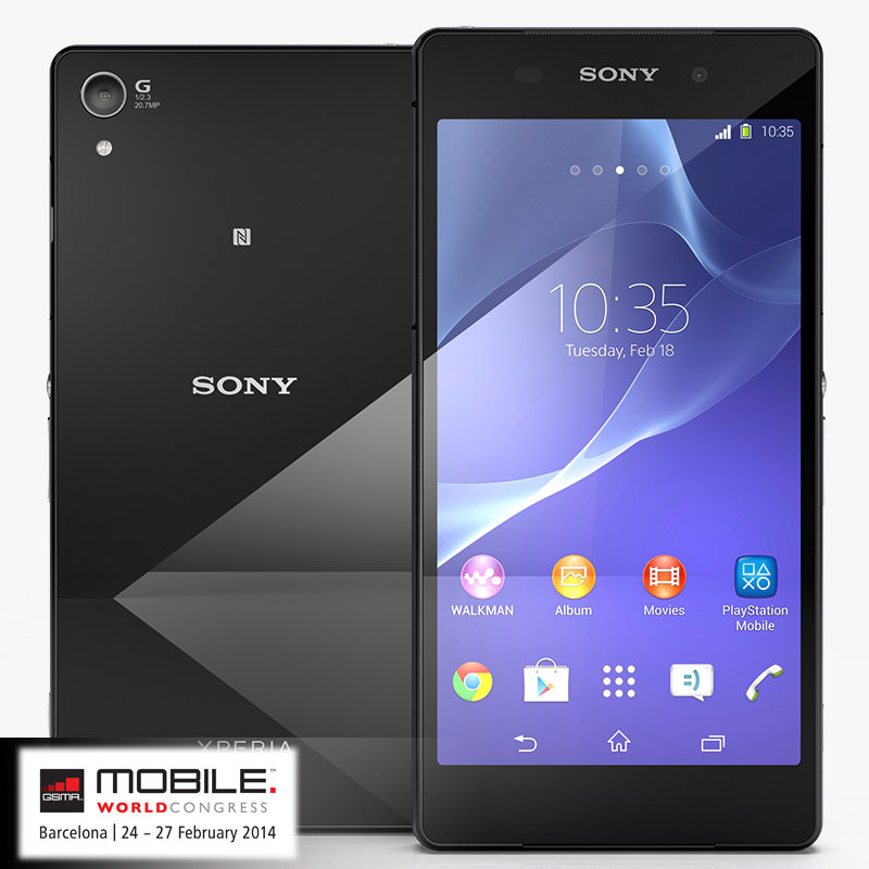 sony xperia z2 black 3ds