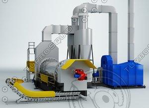 utilization contaminated soil 3d model