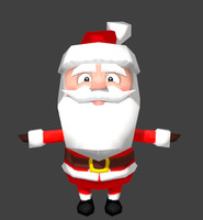 lo-poly santa 3d model