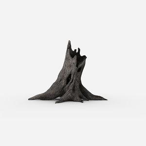 tree stump 3d max