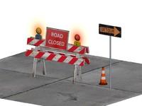maya traffic barricade construction