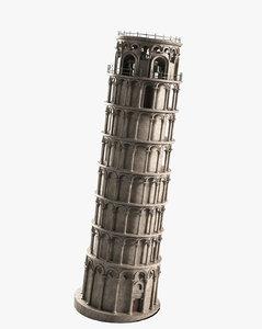 realistic tower pisa 3d max