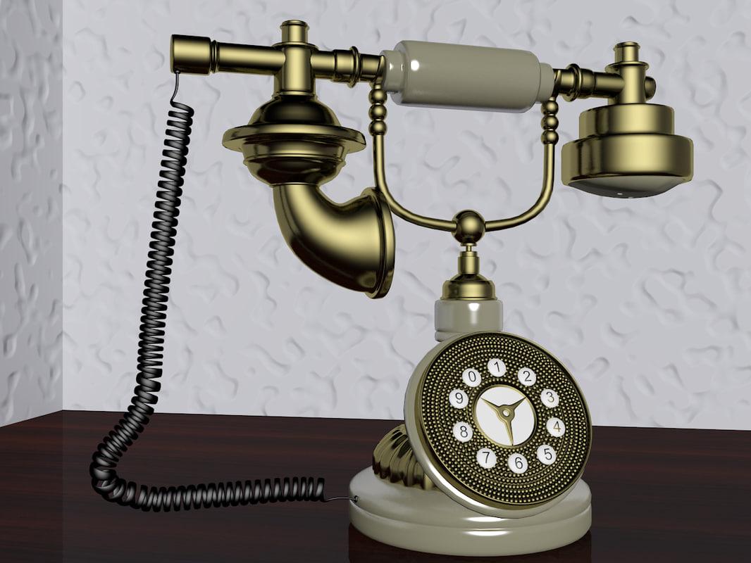 ancient phone 3d model