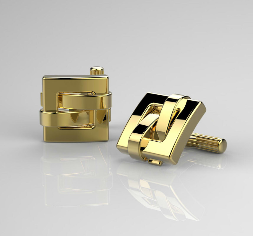 3d gold yellow model