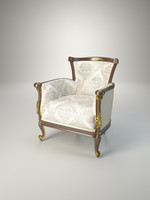 3d armchair volpi