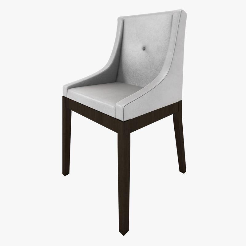 max button chair wood