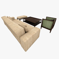 traditional living room 3d max