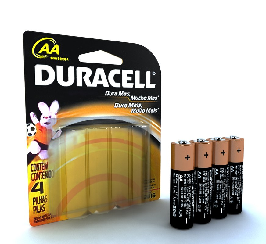 blister duracell 3d max