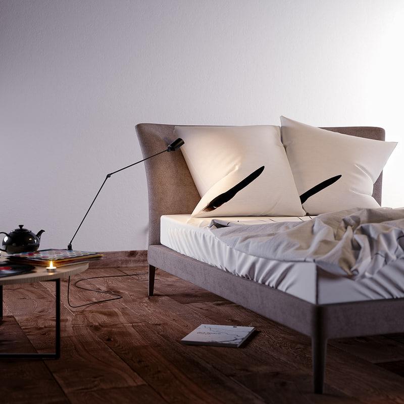 bed b italia 3d model