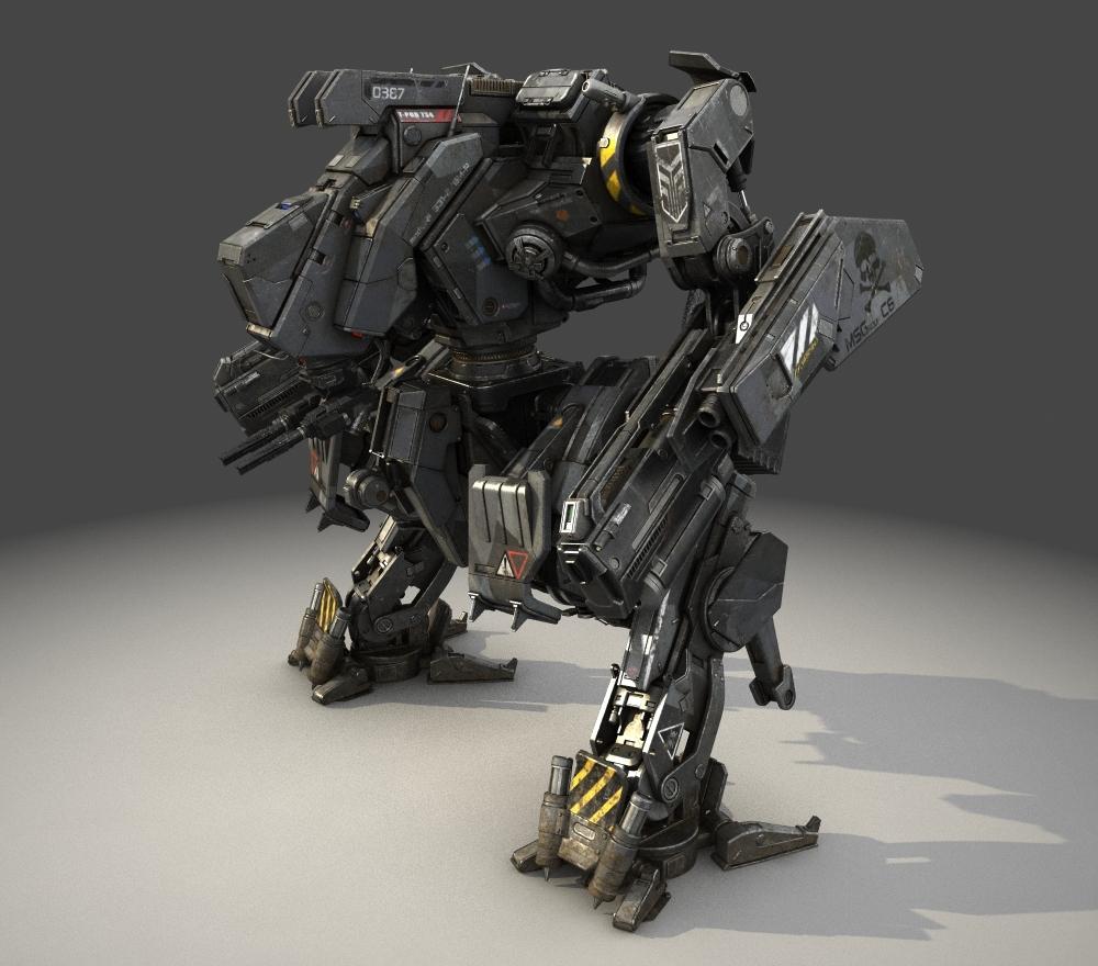 mech robot obj