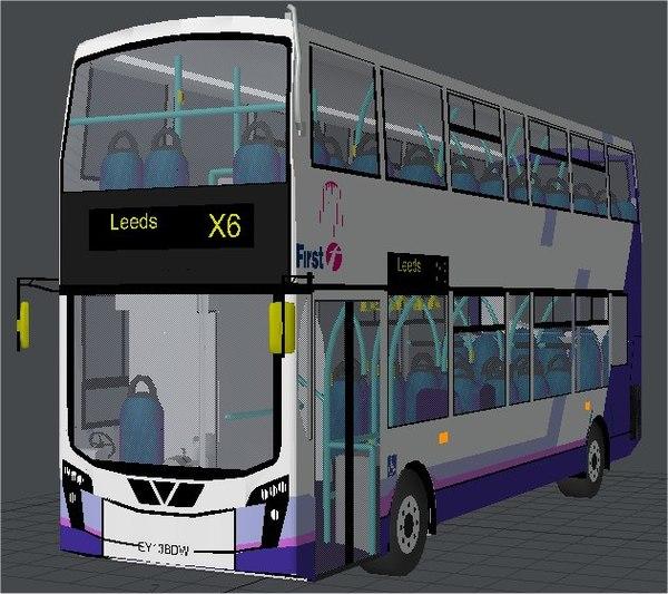 double decker bus olympic 3d model