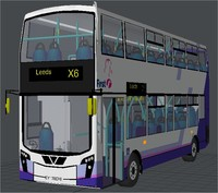 double decker bus olympic 3d model