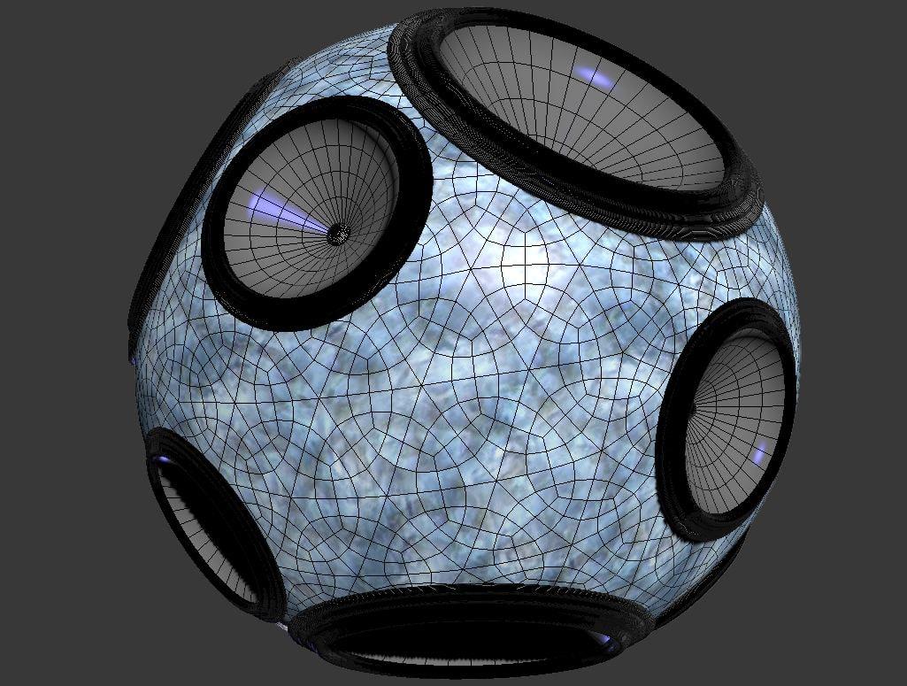 musik ball 3d fbx