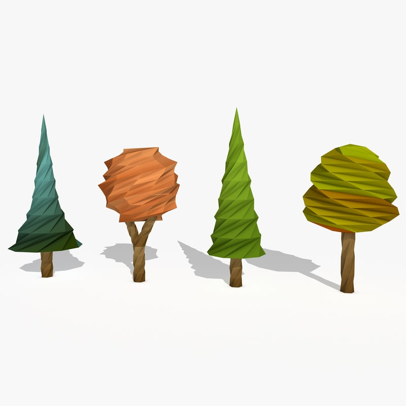 cartoon trees c4d