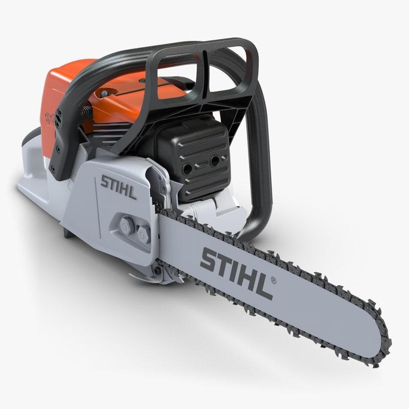 chainsaw stihl 1 chain 3d max