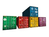 3d cargo container combine model