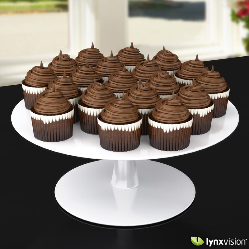3d Chocolate Cupcakes Model