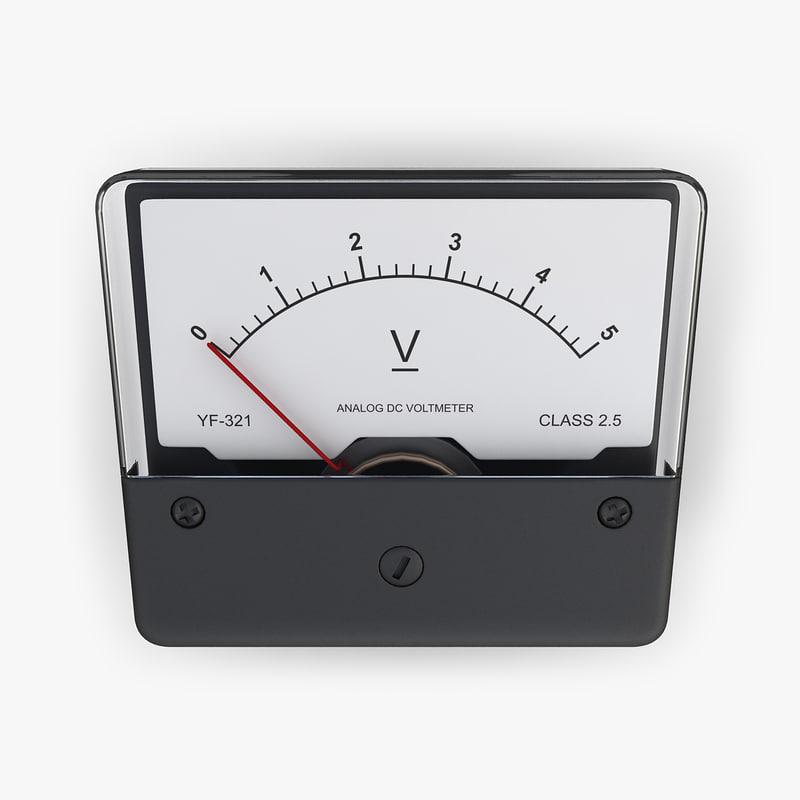 dc voltmeter electrical 3d model
