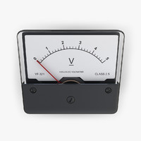 dc voltmeter electrical 3d model