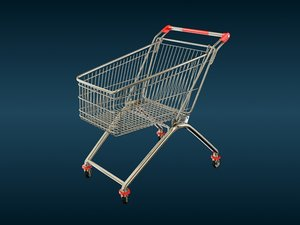 3d trolley shop model