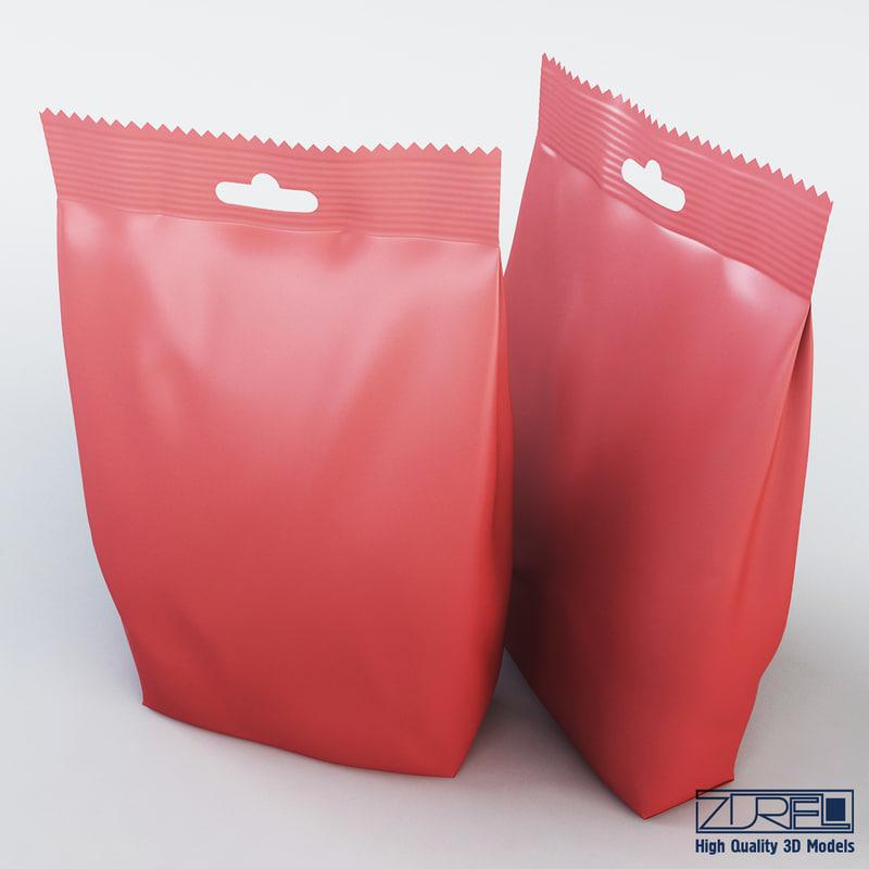food packaging 250 grams 3d max