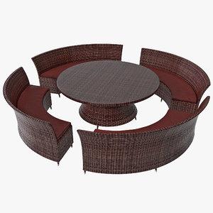 3ds max garden furniture set 2