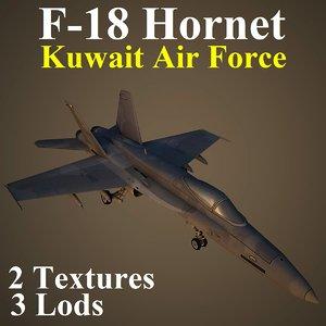 3d max boeing kaf fighter