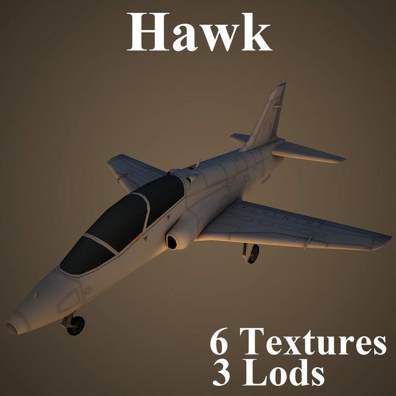 3d model of british aerospace hawk