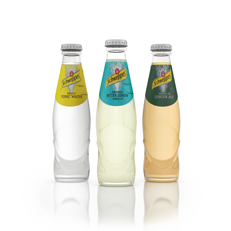 schweppes drinks 3d max
