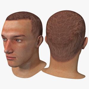 male head 9 3d model