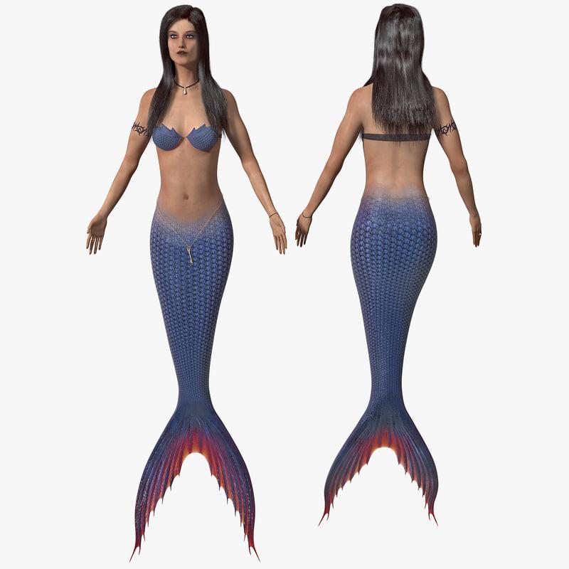 3d model of mermaid 2