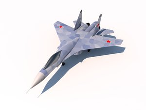 sukhoi su-27 flanker fighter aircraft 3ds