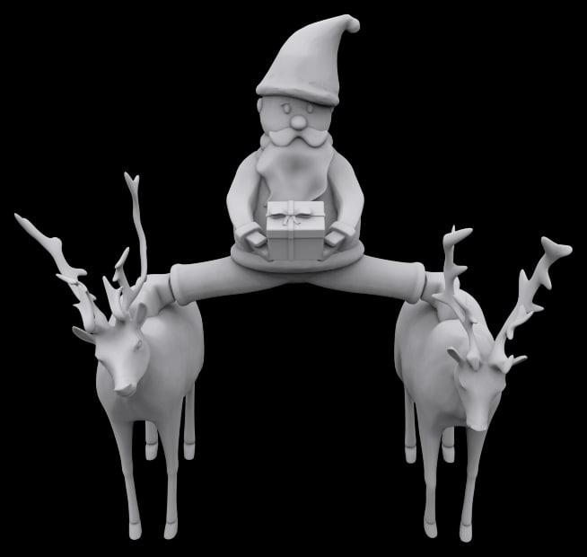 printable santa epic splits obj